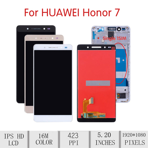 """Image 2 - 5.2""""ORIGINAL For HUAWEI Honor 7 LCD Touch Screen Digitizer Assembly For Huawei Honor 7 Display with Frame Replacement PLK AL10"""