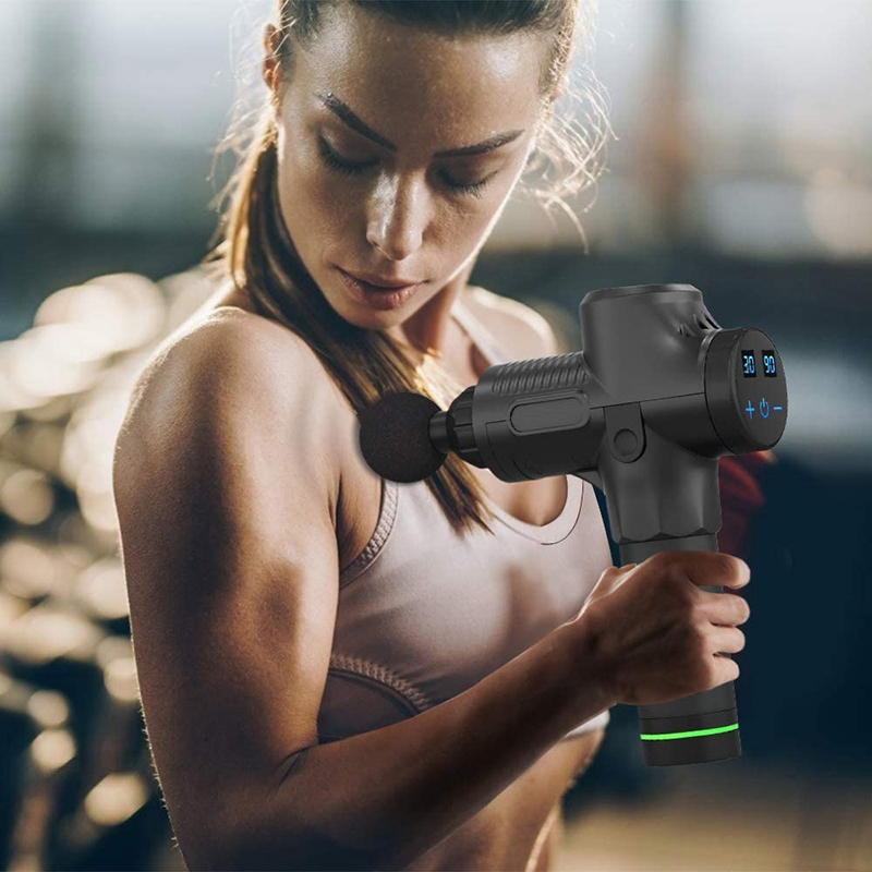 Deep Tissue Muscle Massage Gun Body Shoulder Back Neck Massager Exercising Athletes Relaxation Slimming Shaping Pain Relief