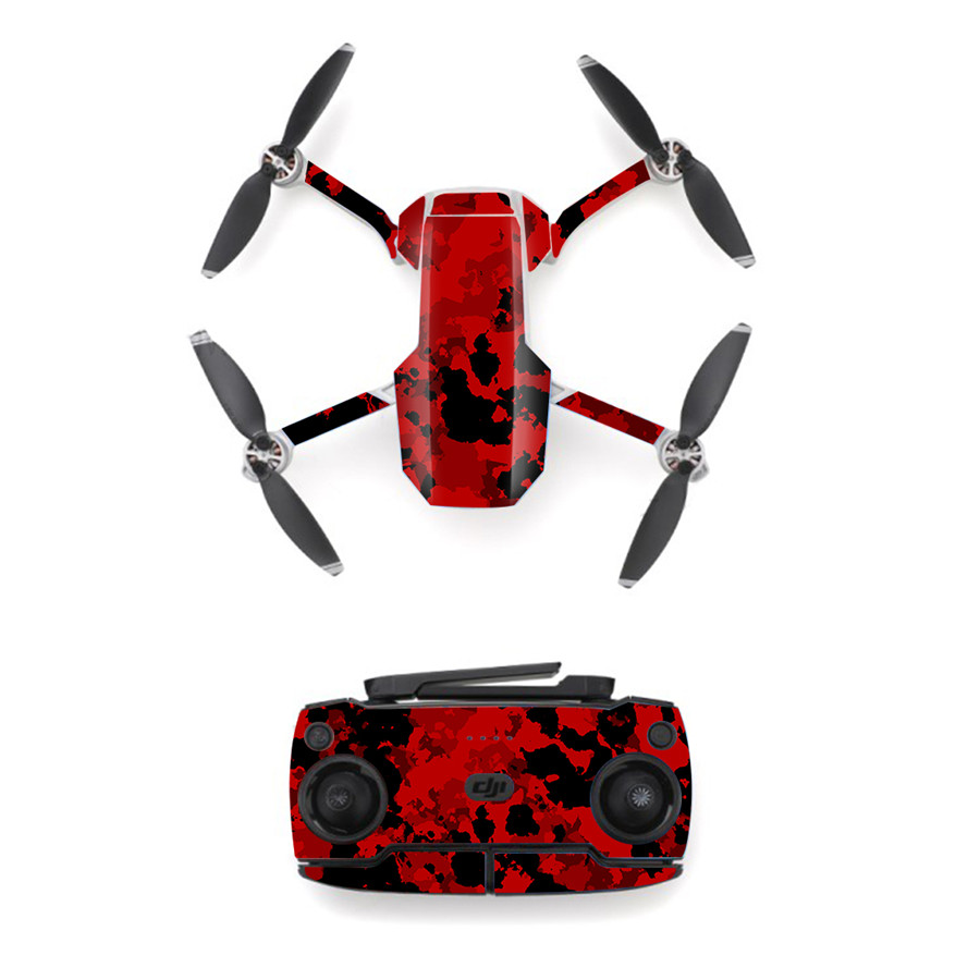 Red Style Skin Sticker for DJI Mavic Mini Drone And Remote Controller Decal Vinyl Skins Cover