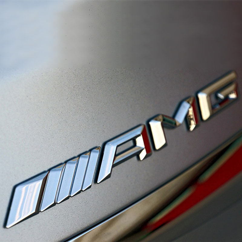 3D Logam Stiker Mobil AMG Acara Logo Mobil Lencana Decal Berlaku untuk Baru Mercedes C Kelas E Kelas S-Kelas C63 Modifikasi