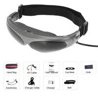 922A Head-Mounted Display FPV Glasses 80 Inches Virtual Wide Screen Smart Video Glasses AV Input for PS3 XBOX DVD Player MP5 TV
