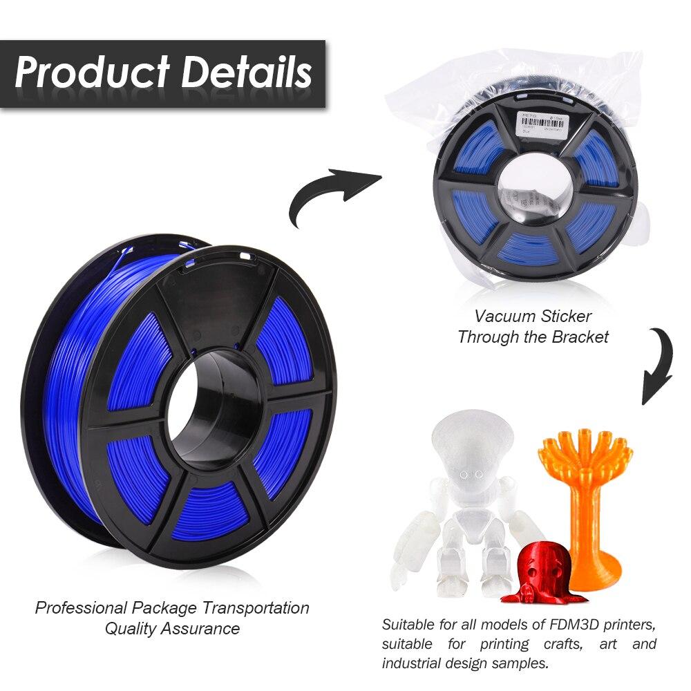 cheapest Enotepad New Arrive PETG 3D Printer Filament 1 75mm PETG 1KG Spool 100percent no bubble with Vacuum packaging                                            3d