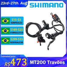 Shimano-Juego de frenos de disco hidráulicos para bicicleta de montaña MT200 MT201 M315, con palanca de frenos Avid