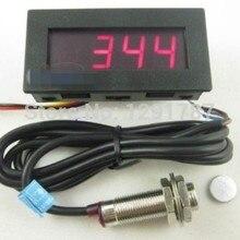 Tachometer RPM Sensor Speed-Meter Hall Proximity-Switch Digital DC 4 8-15V NPN LED 5-9999RPM