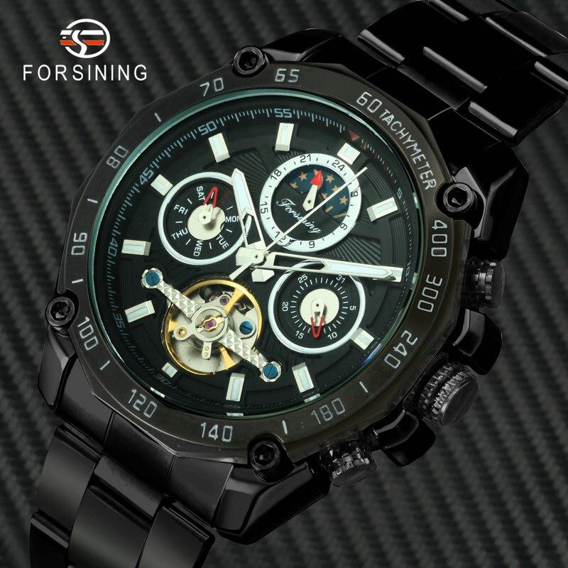 Mechanical-Watches Wristwatch Tourbillon-Watch FORSINING Phase Sports Automatic Luxury