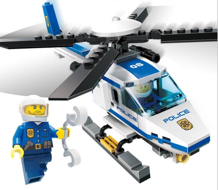 9308 111pcs SWAT/Police Constructor <font><b>Model</b></font> <font><b>Kit</b></font> Blocks Compatible Lepining City Bricks Toys For Boys Girls Children Modeling image