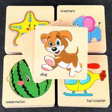 8Pcs Kdis Baby Puzzle Board Toy Wooden Cartoon Fruit Jigsaw Learning Education