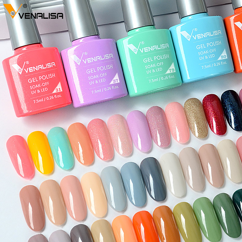 Venalisa 7.5ml Gel Nail Polish Canni Nail Supply Wholesale Soak Off UV LED Gel Lacquer Nail Art Glitter Polish Long Lasting Gel 3