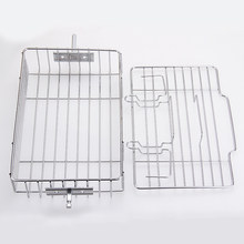 Two Layer Barbecue Universal Kitchen Stainless Steel Garden Rack Camping Picnic Lightweight Meat Outdoor Silver Shelf(China)