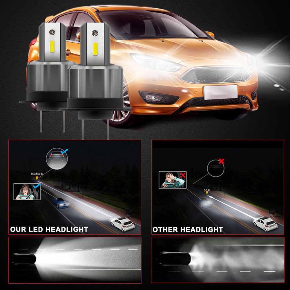 2PCS 72W H7 LED Del Faro Dell'automobile 12V 24V H7 Auto Moto Lampadine 7200LM 360 Gradi Ad Alta /bassa del Fascio Luci Bianche H7 Lampada Impermeabile