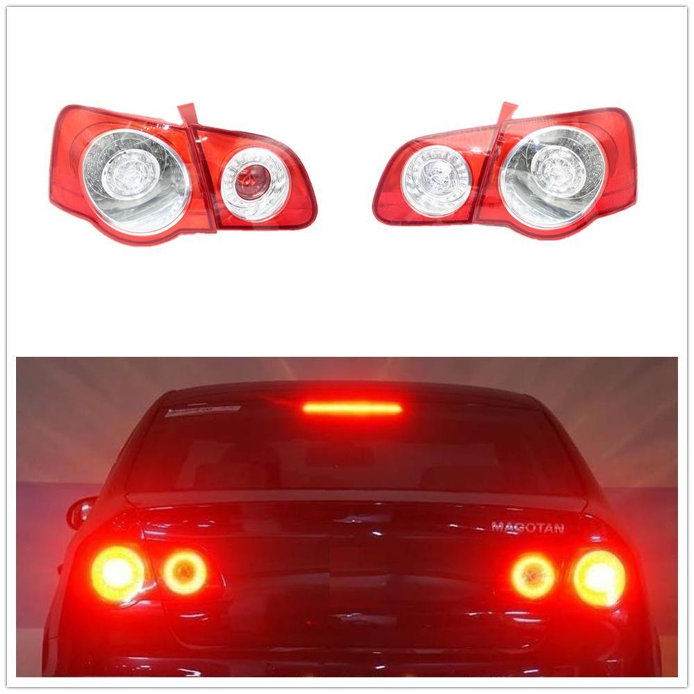 Car LED Rear Tail Light Lamp DRL For VW Passat B6 Sendan 2006 2007 2008 2009 2010 2011 Car-Styling Outer Inner Left Right Side