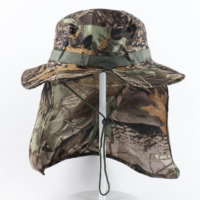 CAMOLAND militaire Boonie chapeaux avec rabat de cou hommes femmes Camouflage seau chapeau pêche en plein air randonnée UPF 50 + chapeaux de soleil