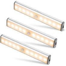 10 LEDs PIR lampa z czujnikiem ruchu szafka szafa lampka nocna pod szafką lampka nocna do szafy schody kuchnia