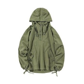 Men's Jacket Spring New Korean Loose Casual Solid Color Plus Size Pullover Jacket Trendy Streetwear MAGGIE'S WALKER Cargo Jacket