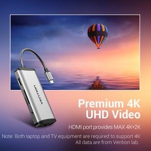 Image 4 - Vention USB نوع C محول نوع C إلى HDMI VGA USB 3.0 PD الطاقة 3.5 مللي متر الصوت RJ45 إيثرنت محول SD/TF قارئ بطاقات USB محور جديد