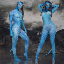 Stretch Jumpsuit Nightclub Bar Cosplay Costumes Halloween Party Role Play Sexy Dance Performance Bodysuit Stage Outfit DQS3240(China)