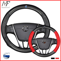 ManH FenT Carbon Fiber Leather Car Steering Wheel Cover For Volvo XC90 S80 XC60 S90 V70 V50 S40 V60 XC70 V40|Steering Covers| |  -