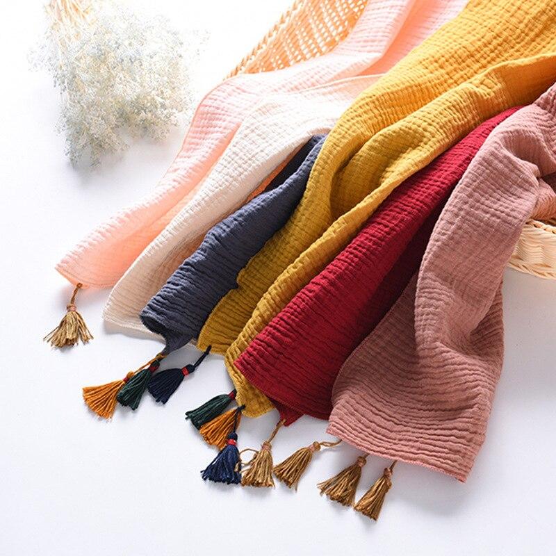 New Style Children Cotton Scarf Autumn And Winter Tassels Warm Men And Women Baby Versitile Fashion Scarf