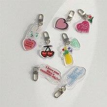 Pencil-Case Pendant Key-Chain Airpods Cherry Korean Cute Decorative-Accessories Tulip