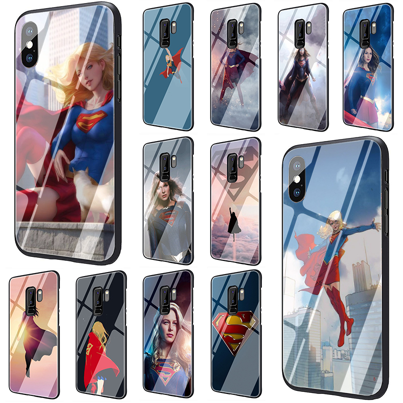 TV Series Supergirl Tempered Glass phone case for Samsung S7 Edge S8 S9 S10 Plus Note 8 9 10 A10 20 <font><b>30</b></font> <font><b>40</b></font> <font><b>50</b></font> <font><b>60</b></font> <font><b>70</b></font> image