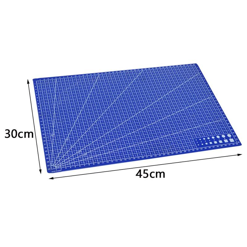New 1Pc A3 Cutting Plate Pvc Rectangle Grid Lines Cutting Mat Plastic Diy Tools 45cm * 30cm School Office Supplies For Kids Gift 6