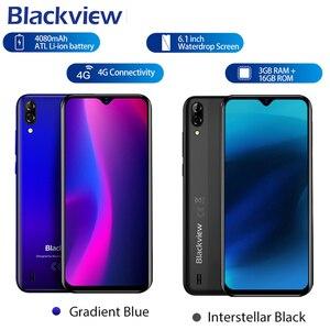 Image 5 - חדש אדום צבע Blackview A60 3G נייד טלפון אנדרואיד 8.1 Smartphone Quad Core 4080mAh נייד 1GB 16GB 6.1 אינץ 19.2:9 מסך