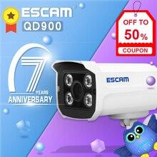 ESCAM Mini caméra de Surveillance extérieure WIFI HD 1080P 2.0 mégapixels, système de sécurité domestique sans fil QD900, avec système infrarouge Bullet