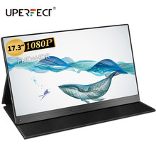 Uperfect FHD dünne tragbare lcd hd monitor 17,3 zoll usb typ c hdmi für laptop, telefon, xbox, schalter und ps4 tragbare lcd gaming(China)