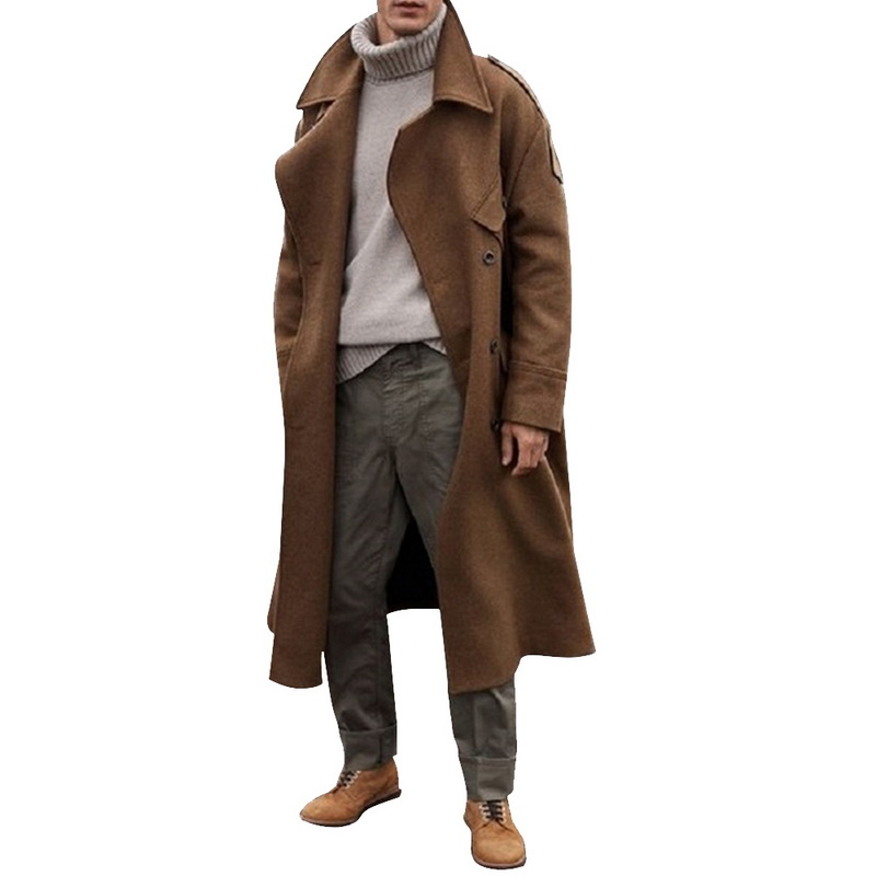 PUIMENTIUA Men Long Jackets Autumn Winter Fashion Thick Business Casual Trench Coat 2019 New Mens Long PUIMENTIUA Men Long Jackets Autumn Winter Fashion Thick Business Casual Trench Coat 2019 New Mens Long Windbreaker Outerwear