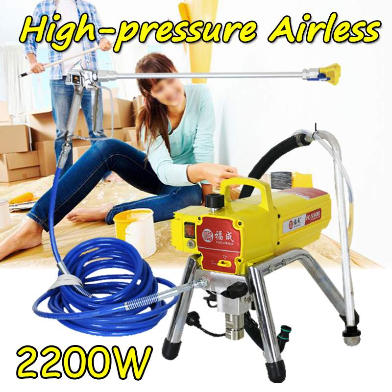 2200W 6000Psi High Pressure Electric Airless Paint Sprayer Painting Machine Airless Spraying Machine Wall Spray Machine 220V
