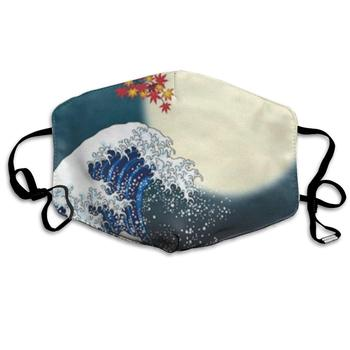 Big Wave Under Moon Inspiring Dust Mouth Mask Reusable Anti-Dust Face Mask Adjustable Earloop Skin Protection under my skin