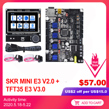 BIGTREETECH SKR MINI E3 V2.0+TFT35-E3 V3.0 Touch Screen Control Board TMC2209 UART 3D Printer Parts For Creality Ender-3 CR10