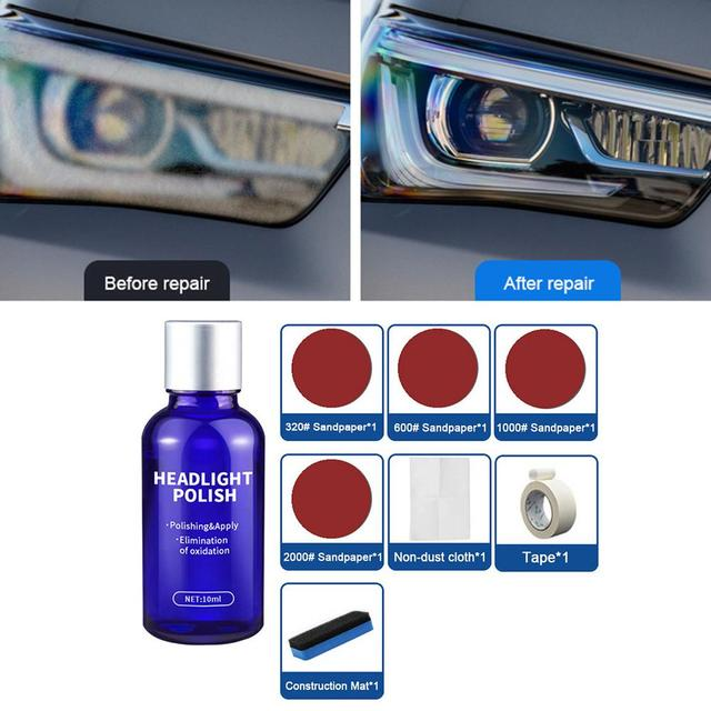 10ML Car Styling Headlight Polish Liquid Cars Restoration Agent Scratch Repair Kit Brightening Headlight Repair Lamp Paint Care