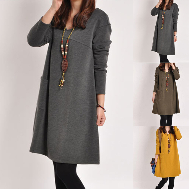LOOZYKIT Autumn Maternity Dresses in Casual Style 2