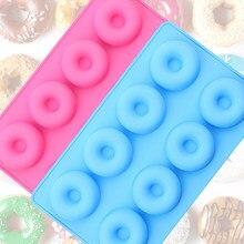 Molde de silicone para bolos, 1 pacote com 8 formas de rosquinha para bolos pães e cupcakes venda de venda