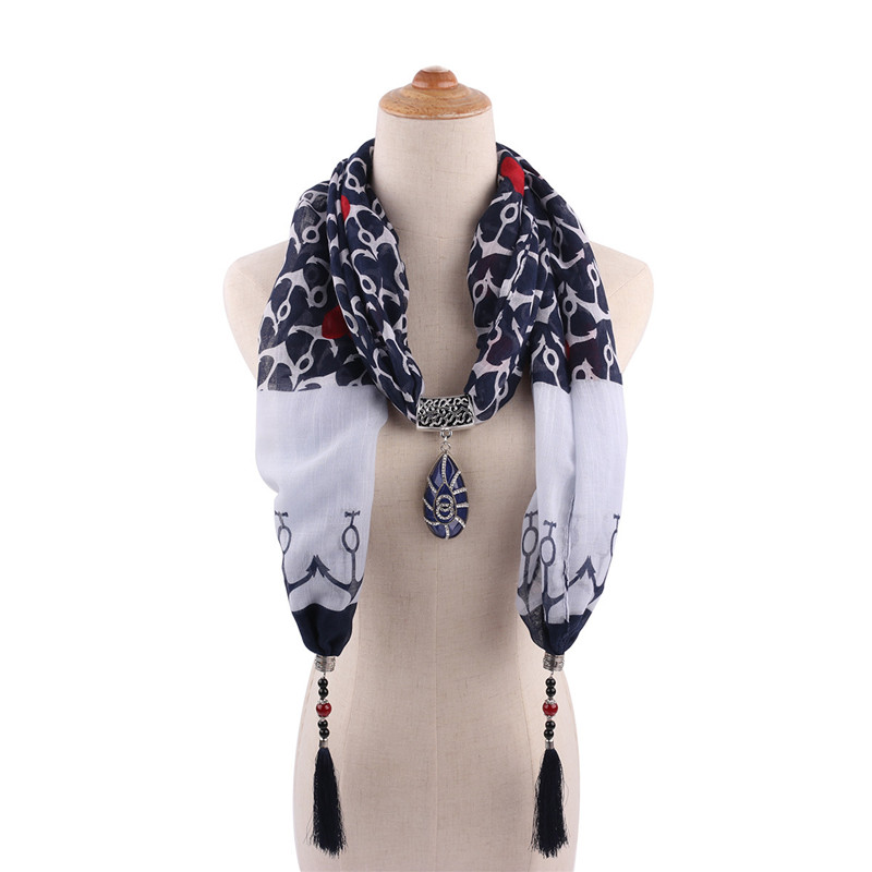 RUNMEIFA Cotton Jewelry Statement Necklace Pendant Scarf Women Bohemia Neckerchief  Foulard Femme Accessories Hijab Stores