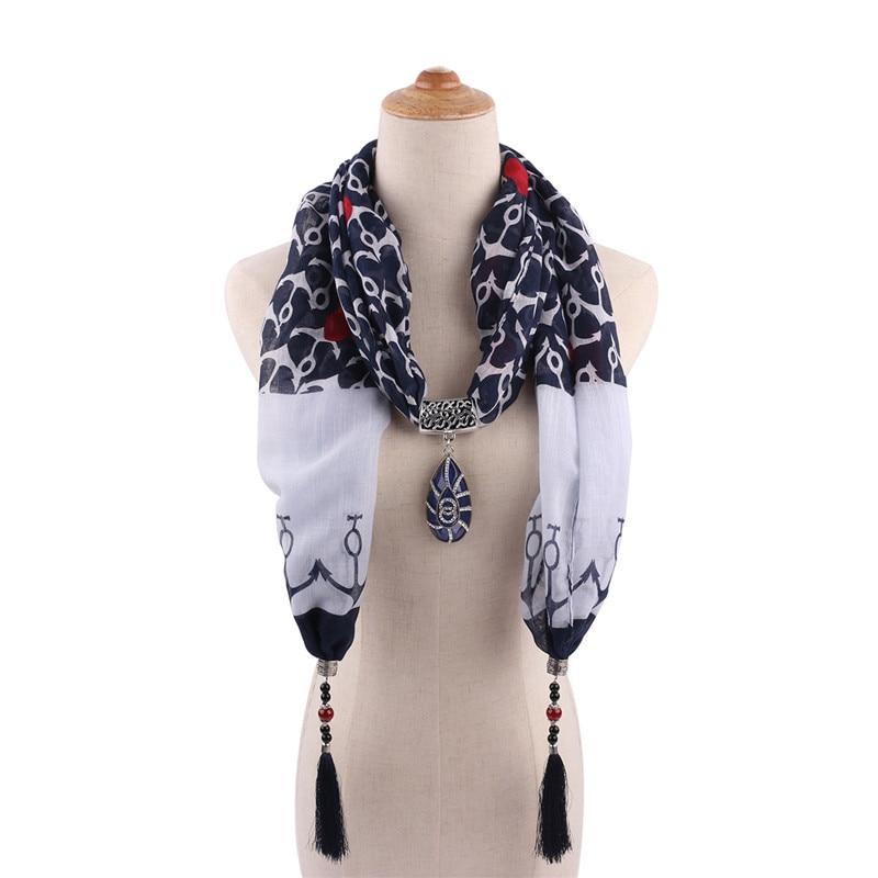 RUNMEIFA Cotton Jewelry Statement Necklace Pendant Scarf Women Bohemia Neckerchief  Foulard Femme Accessories Hijab Stores|Women