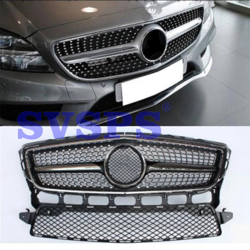 High Quality ABS Front Middle <font><b>Grille</b></font> For Mercedes Benz CLS-Class <font><b>W218</b></font> CLS300 2012-2014 Year image