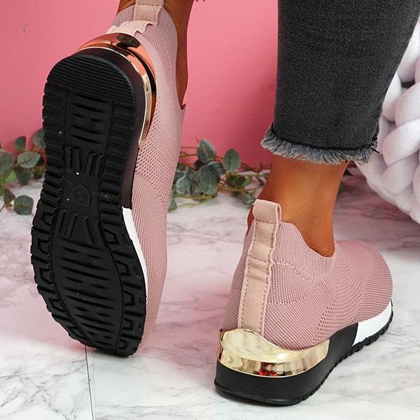 Tênis mulher vulcanizado sapatos senhoras cor sólida deslizamento-em tênis para o sexo feminino sapatos casuais calçados esportivos 2021 moda mujer 5