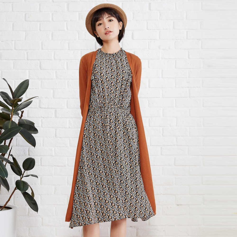 Metersbonwe Lange Zachte Gebreide Vest Vrouwen Trui Herfst Kantoor Dame Kleding Mode Vest Voor Vrouwelijke Ol Met Riem 219857