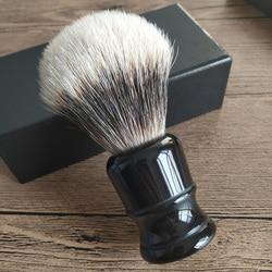 Dscosmetic silvertip 2 banda brocha de afeitar de pelo de tejón