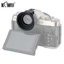KIWI Soft Silicone Camera Eyecup Eyepiece For Fujifilm X T100 XT100 FUJI XT 100 Eye cup Mounts Easily And Securely Via Hot Shoe