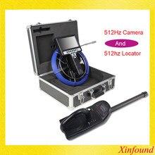 Câmera da inspeção da tubulação da câmera do cctv da tubulação do endoscópio de 30m 23mm com transmissor 512hz sonda e localizador de 512hz