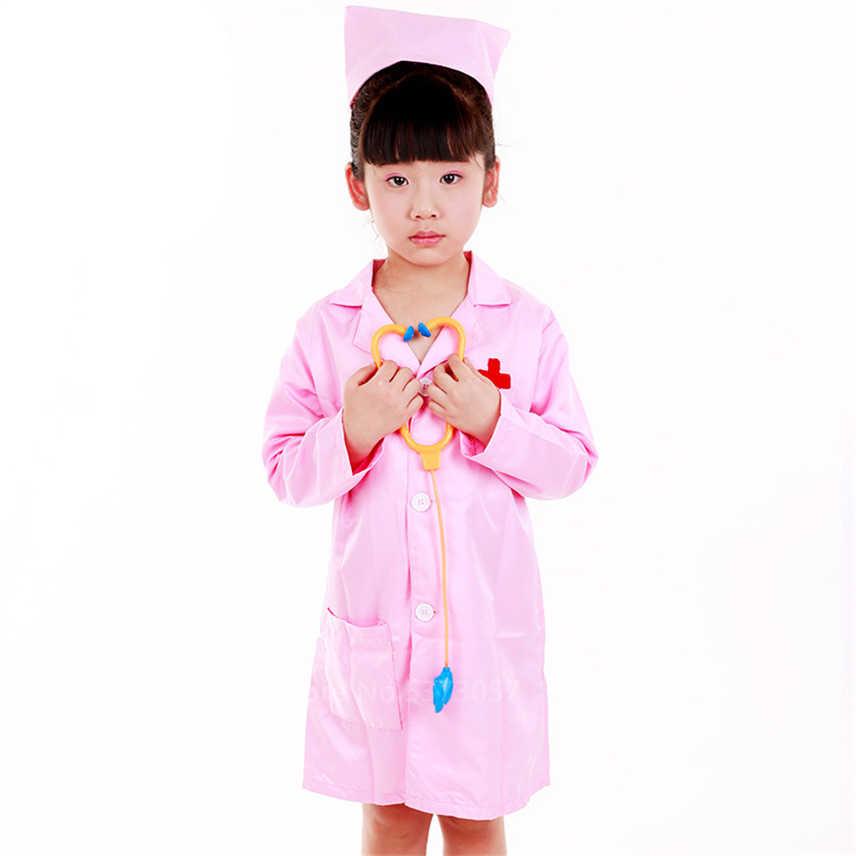 ファンシー子供のロールプレイの衣装ドレスアップセットコスプレパフォーマンスラボジャケット帽子パーティー作業スクラブ制服