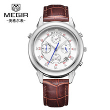 Mens Watches Top Brand Luxury Quartz Watch MEGIR Fashion Casual Business Wristwatches Waterproof Wristwatch цена и фото