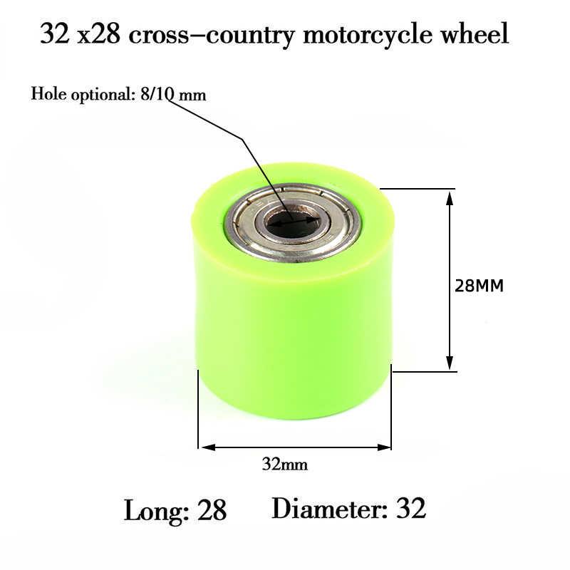 Drive Chain 8 Mm Pulley Roller Slider Tensioner Panduan Roda untuk Pit Dirt Jalan Sepeda Motor CRF YZF EXC RMZ KLX Gratis Pengiriman