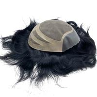 Stock next day shipping 8x10 Free cutting Fine MONO base remy human hair piece men's toupees