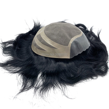 "Stok ertesi gün kargo 8 ""x 10"" Serbest kesim Ince MONO taban remy İnsan saç parçası erkek toupees"
