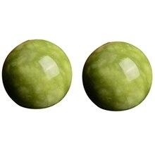 2 шт мраморный нефрит Baoding китайские мячи для снятия стресса для релаксации, терапия, инструмент для ухода за руками