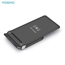 FDGAO 15W bezprzewodowa ładowarka Qi szybkie ładowanie 3.0 USB C szybkie ładowanie dla iPhone 11 Pro XS XR 8 X Samsung S9 S10 10W składany stojak Pad